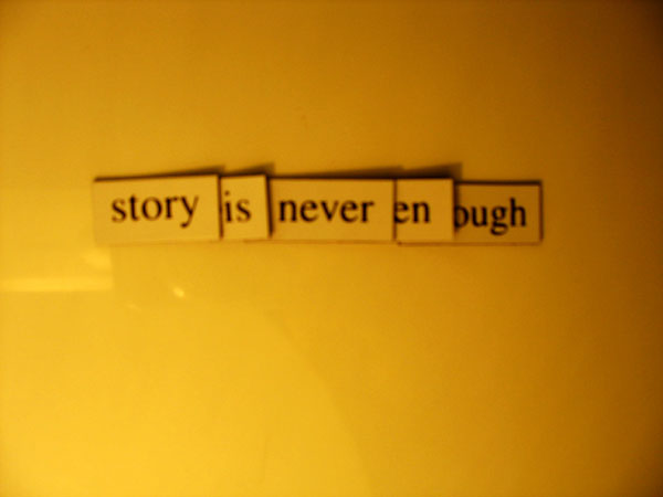 Fridge for Thought by Andrew Kooman, Story is Never Enough