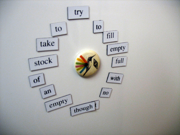 """Fridge for Thought by Andrew Kooman, """"Try to Think"""""""