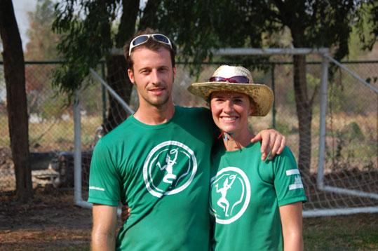 Steve and Aime Gosselin - in ultimate frisbee gear