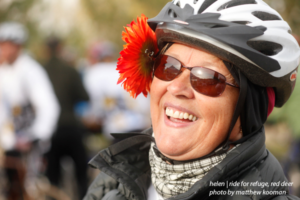 Helen Doef Ride for Refuge Red Deer