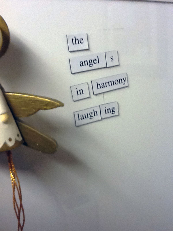 Annunciation, a Fridge for Thought by Andrew Kooman