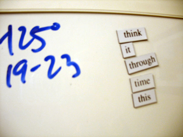 Think it Through, A Fridge for Thought by Andrew Kooman