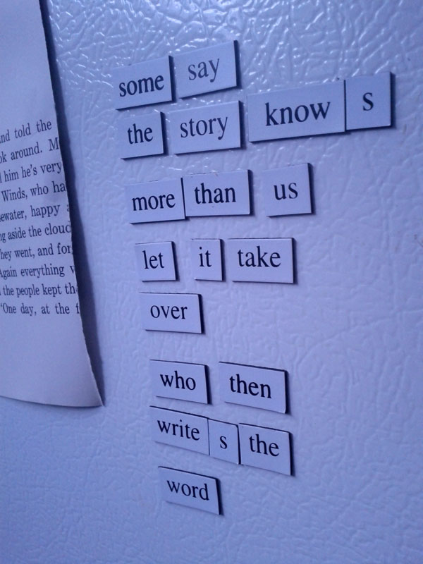 The Story Knows, a Fridge for Thought by Andrew Kooman