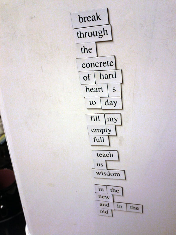 My Prayer Today, a Fridge for Thought by Andrew Kooman